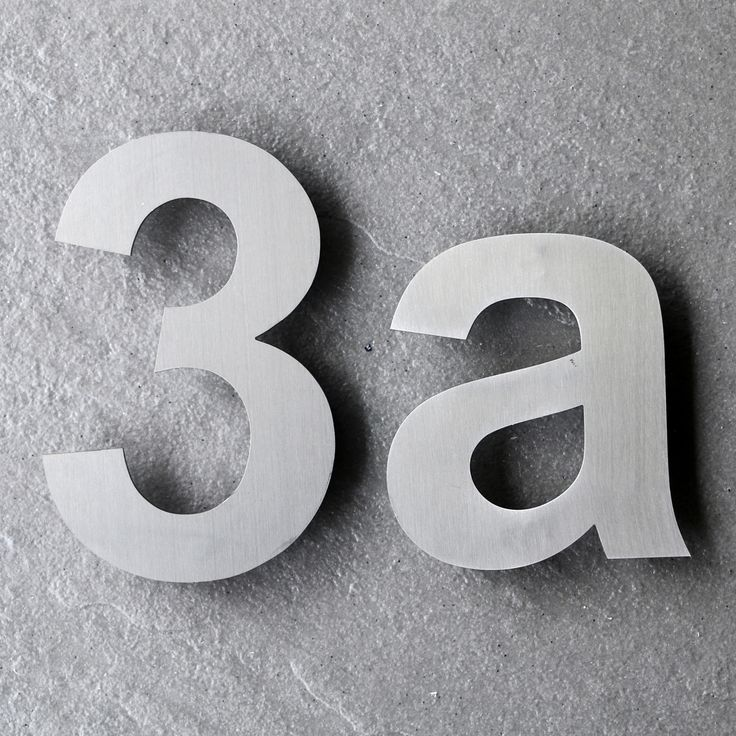 49 best images about Modern House Numbers and Letters on Pinterest