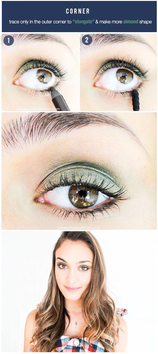 Diferentes maneiras de aplicar o lápis na parte debaixo dos olhos (e seus efeitos)