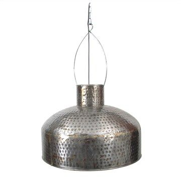 Clera Lacquer Hammered Iron Pendant Light