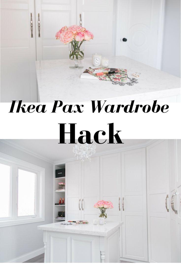 Ikea Pax Wardrobe Hack to create a beautiful walk-in dream closet!