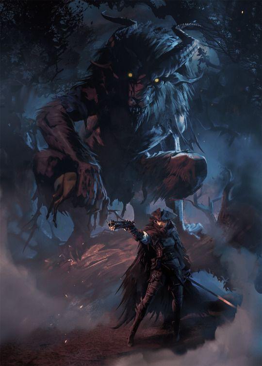 Jefe para conseguir la gemaInvocadora, de demonios, que usa una escopeta de dos cañones y una espada