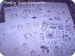 Family Tree Keepsake - Have children create their family tree with this fun activity!