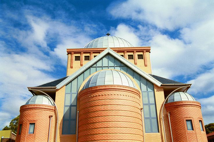 This Church at Rhodes is a beautiful example of double standing seam system