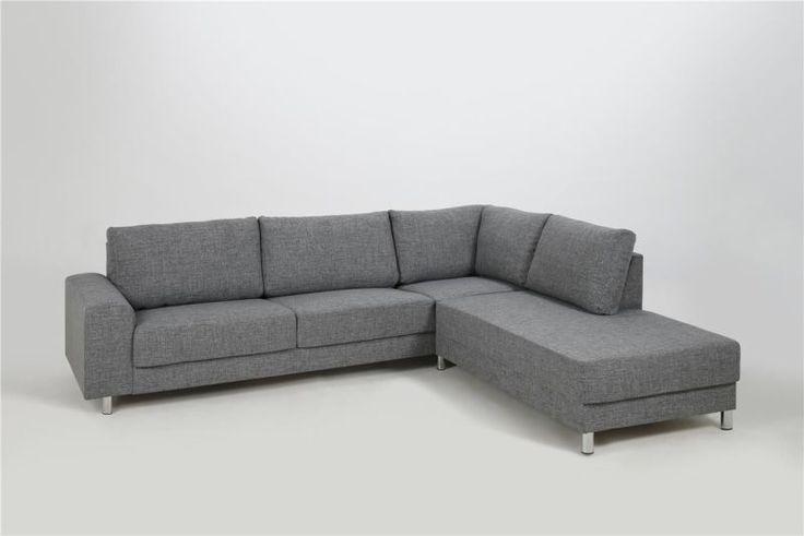 Sofa narożna Calverton ACTONA - szary 262x221x80 cm w Mango
