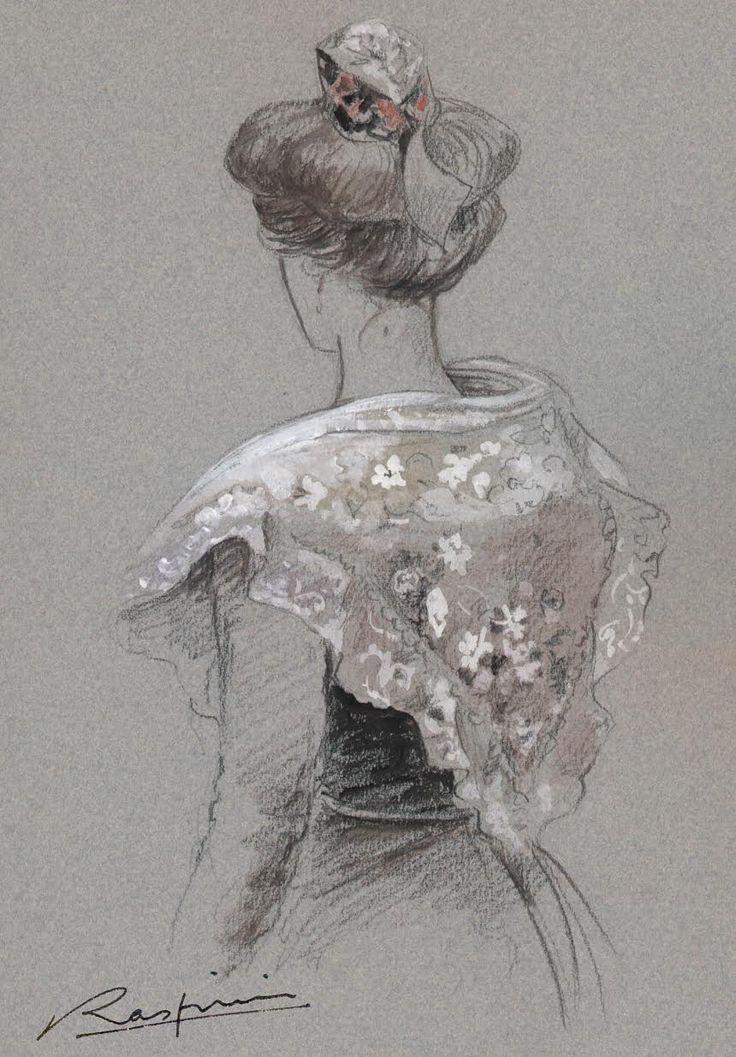 Danielle raspini artiste peintre dessin sur - Dessin costume ...