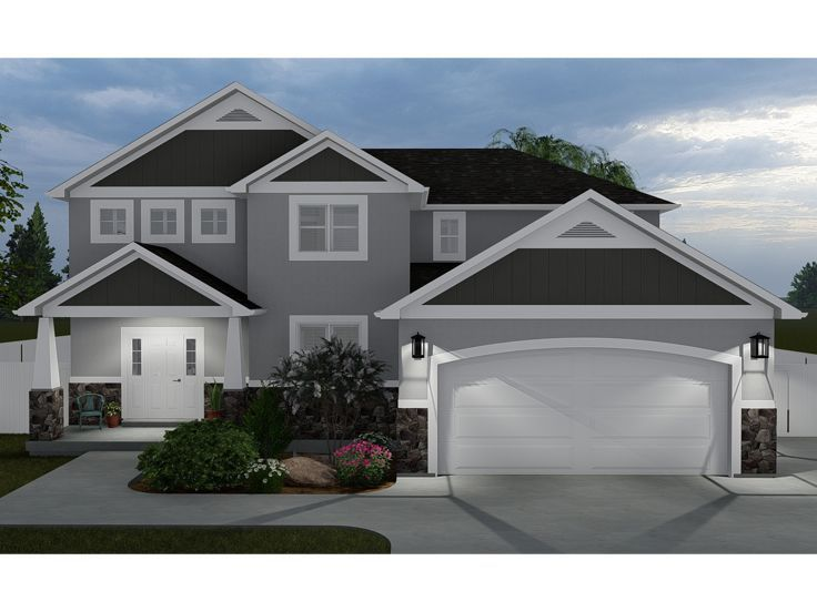 065h 0067 Two Story House Plan For Family Living 3823 Sf House Plans Two Story House Plans Craftsman House