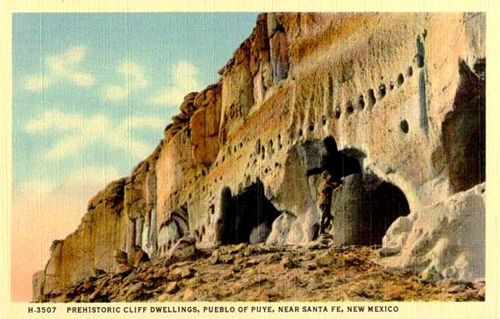 Puye Cliff Dwellings - Ancestral home of the Santa Clara Indians