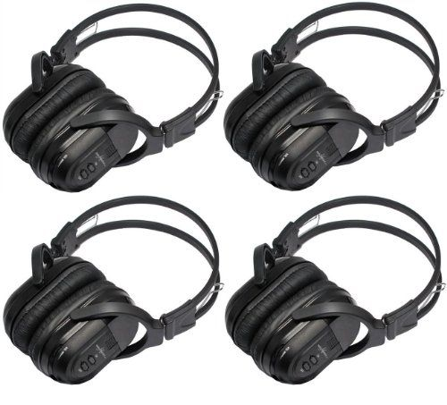 4 Pack Of Two Channel Folding Universal Rear Entertainment System Infrared Headphones Wireless Ir Dvd Player Head Phones For In Car Tv Video Audio Listening, 2015 Amazon Top Rated Car Video #AutomotivePartsandAccessories