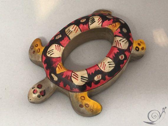 Spielzeug ring schildkröte holz farbig größe