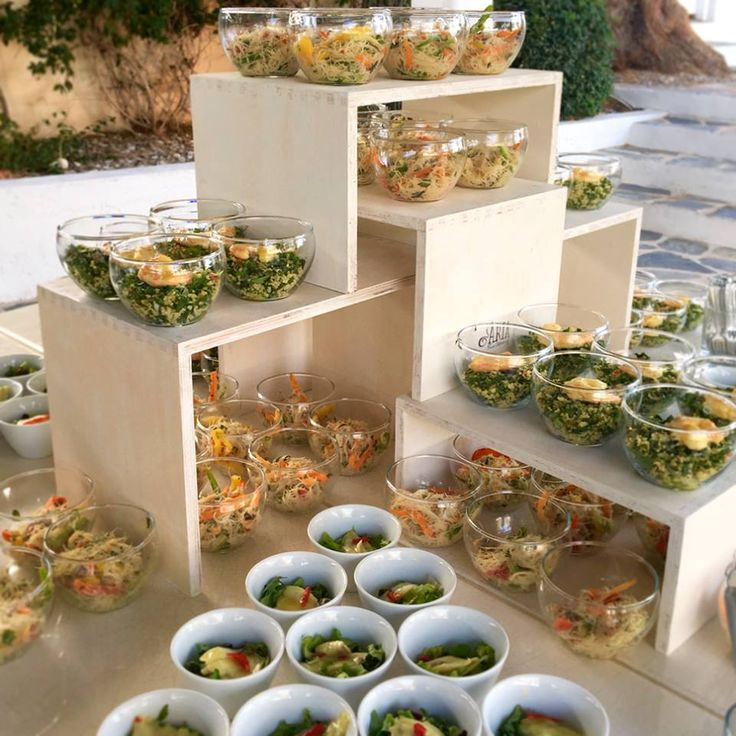 It's important to make sure that every dish for your event is prepared on-site! Our excellent cooperation with the fantastic venues of Island Athens Riviera allows us to prepare everything in their kitchens. Thus, the excellent quality that we promise is guaranteed!
