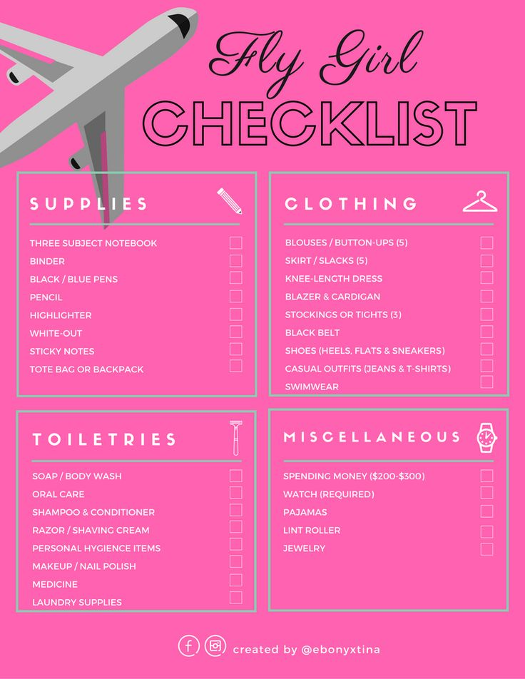 Prepare for Flight Attendant training by downloading a FREE checklist to be sure you don't forget anything!