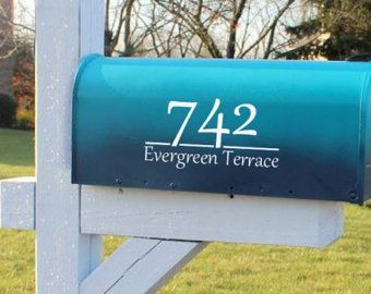 Mailbox Numbers  Letter Decals  Mailbox Decals  Vinyl