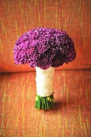 purple carnation bouquet wedding - Google Search