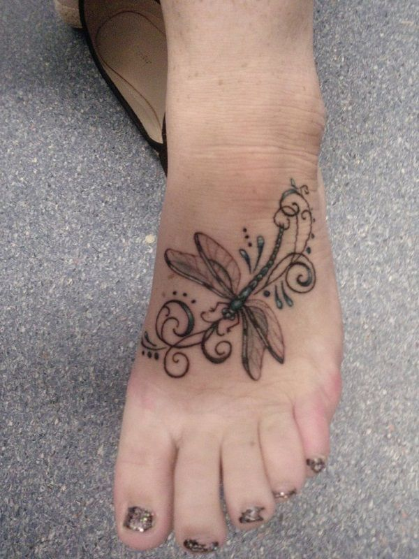 Instep Dragonfly Tattoo                                                                                                                                                     More