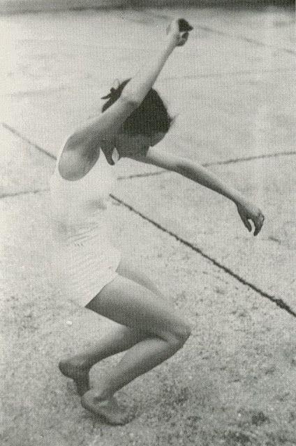 Jean Renaud dancing on a Paris rooftop, 1950