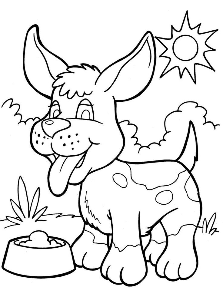 Dog And Cat Coloring Pages Printable. Dogs are man's best
