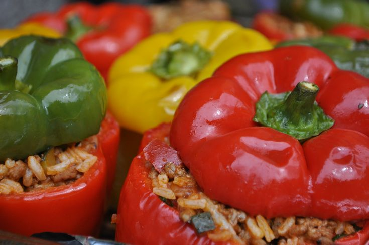 Stuffed Peppers with Rice - Tonights Dinner - A Maltese Mouthful