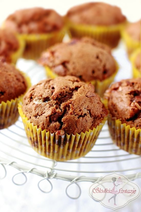 Muffinki snickersowo-nutellowe / Muffins with Snickers and Nutella