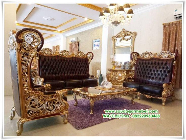 Set Kursi Sofa Model Aladin – Lengkapi kebutuhan prabotan Ruang Tamu rumah anda dengan kursi tamu model terkini dan konsep klasik modern, serta menawarkan kemewahan didalam sudut ruangan rumah anda. Set Kursi Sofa Model Aladin Kursi Tamu asli dari mebel jepara, yang langsung di produksi oleh pengrajin yang handal.