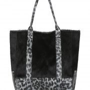 LUPE - LEOPARDO SILVER The Lupe Zeus in Silver Leopardo features an outer of soft black hide and contrast metallic leopard printed genuine leather. Soft black suedette lining and a handy inner pocket with zip. Gold rivet detailing on straps with magnetic snap closure at top. It can be carried in hand or over the shoulder. The Lupe is covered by a 12-month manufacturing warranty.