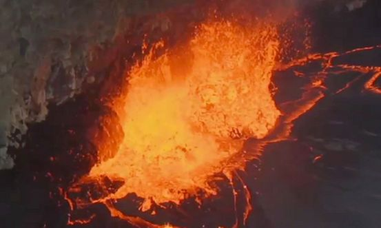 Volcanic eruptions explode