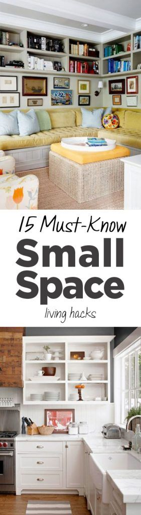 Home Hacks Organization Tips Popular Ideas Small Living Space