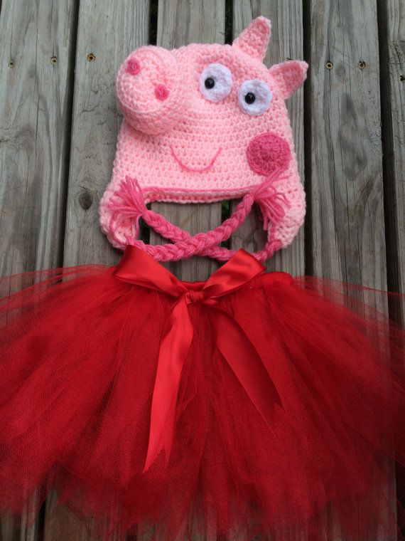 Peppa Pig Costume by instantlyadorable on Etsy
