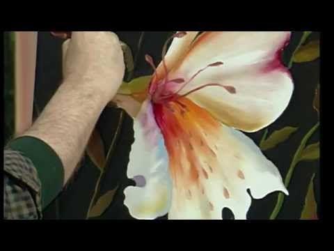 Gary jenkins tutorial la bellezza di dipingere fiori - YouTube