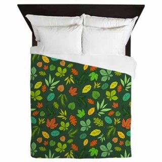 Forest Foliage Duvet cover green web