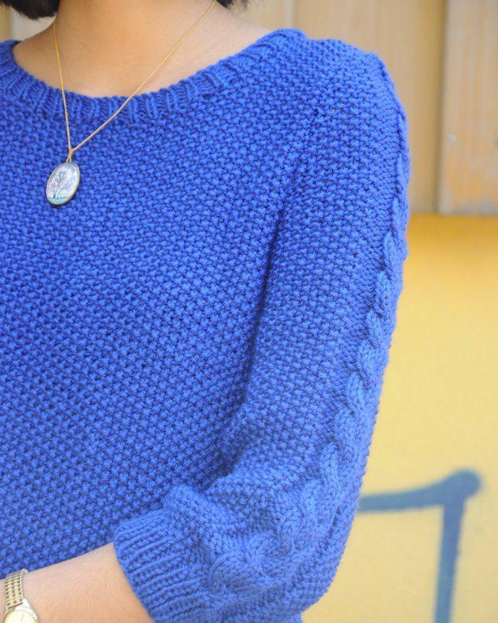 Pull bleuet - Marie Claire Idées