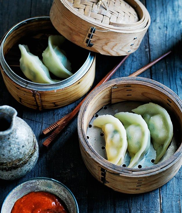 Jade prawn dumplings recipe - Gourmet Traveller #food #recipe