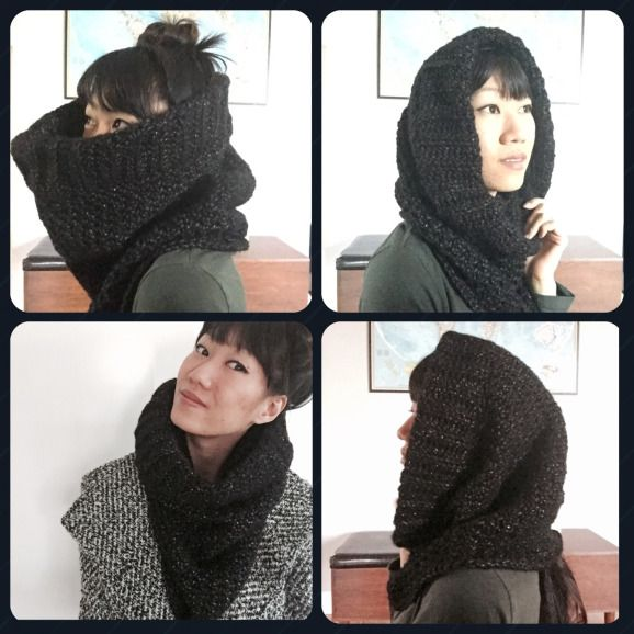 Super Chunk Hooded Cowl - free crochet pattern from annaweee ! crochet all the things                                                                                                                                                                                 More
