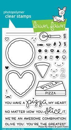 ВПЕЧАТЛЕНИЯ АВТОРА - Штамповка - NEW «- ВСЕ МАРКИ - LF1018 Четкая Марка - Пицца моего сердца