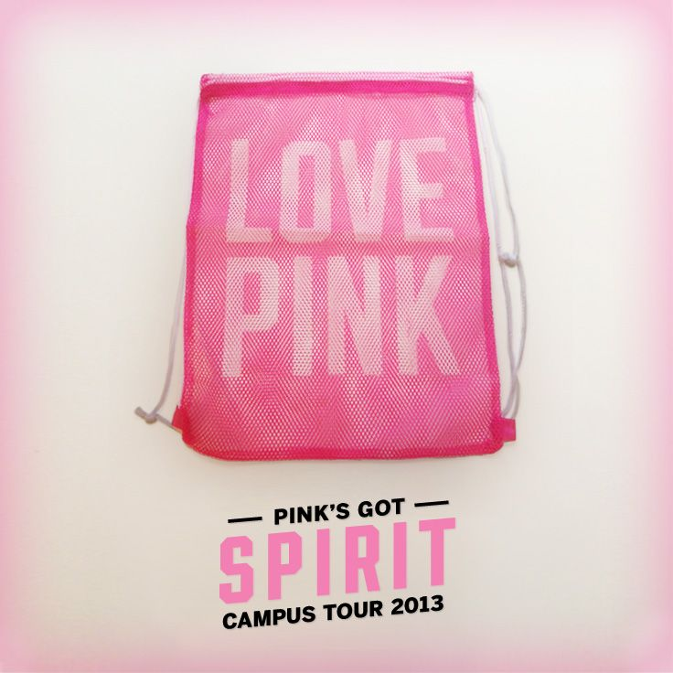 Perfect for stashing your books, laundry and more campus essentials. #PINKNation #FreebiePinOff #PINKCampusTour