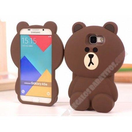 Carcasa silicona divertida 3D diseño oso para Galaxy A5 (2016)