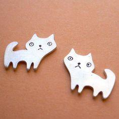 Feline Love Earrings  -BUY ONE, GET ONE FREE-