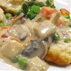 Old-fashioned comfort food:  Chicken Ala King!  Over noodles, biscuits, English muffins, toast,or rice, it's delish!