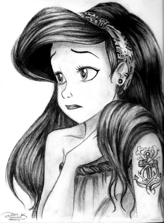 "hipster Ariel. "" I'm never gonna look this cute again..."""