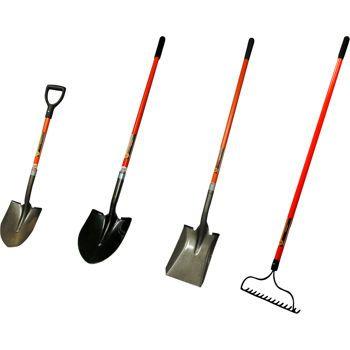 Fiberglass Long Handle Garden Tool Set