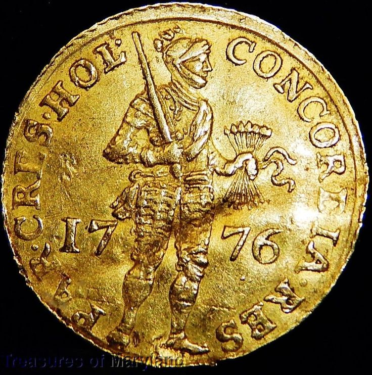 "1776 HOLLAND ""STANDING KNIGHT"" DUTCH GOLD DUCAT! sku #DG4"