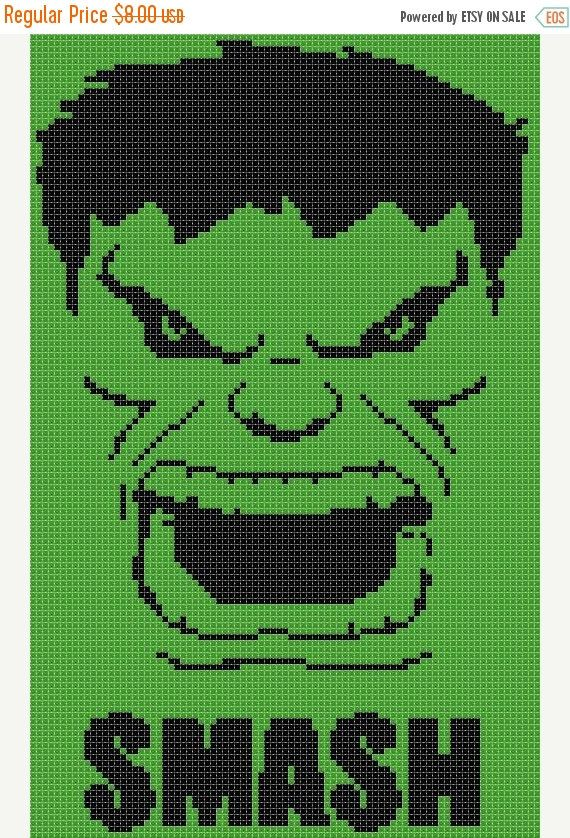 ON SALE hulk marvel 85 x 134 stitches Cross by borntocross                                                                                                                                                                                 More