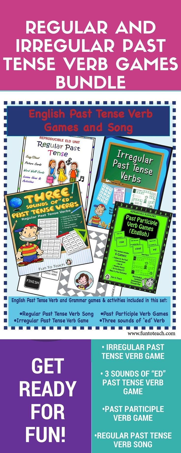 12075 best the creative classroom by teachers images on pinterest english regular and irregular past tense verb games bundle robcynllc Gallery