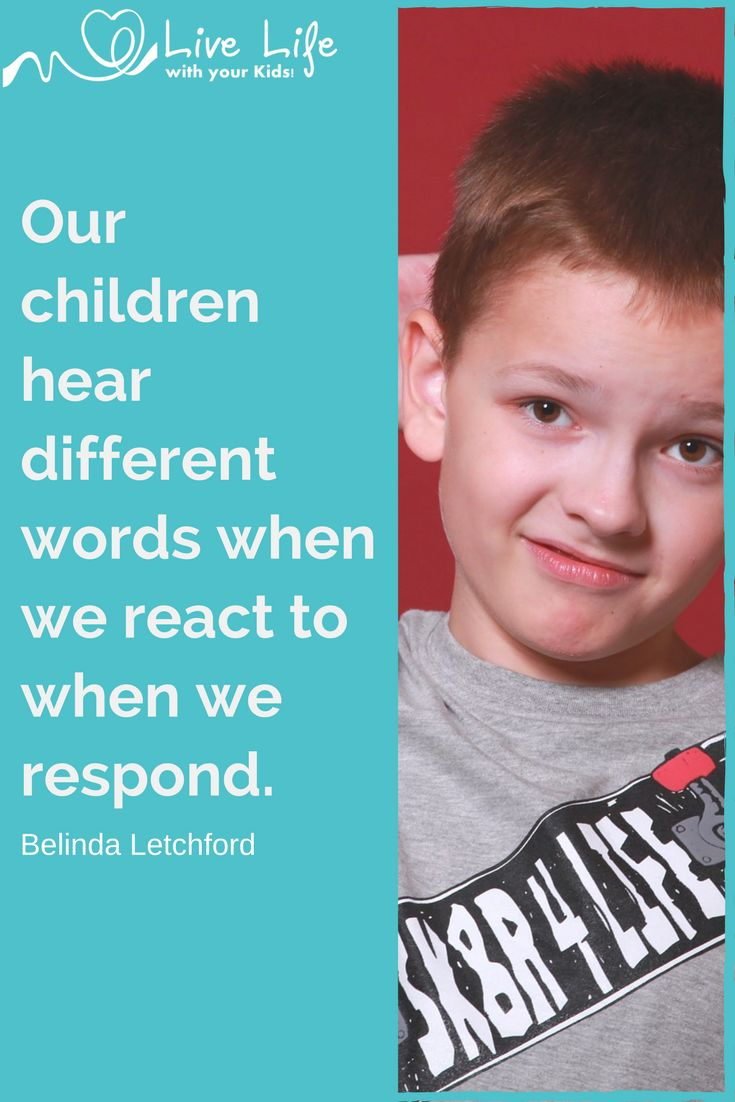 Our children hear different words when we react to when we respond. Do your children hear blah blah blah when you correct them? Includes a parenting poster.
