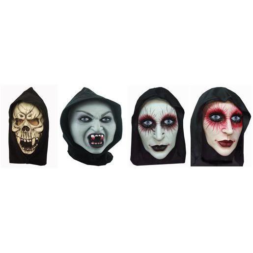 Masque cagoule de sadique en latex - Taille unique - 3 modèles différents