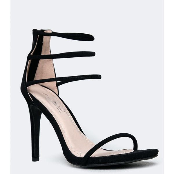 STRAPPY HIGH HEEL SANDAL ❤ liked on Polyvore featuring shoes, sandals, strap sandals, strap shoes, sexy sandals, strappy stilettos and stiletto heel sandals