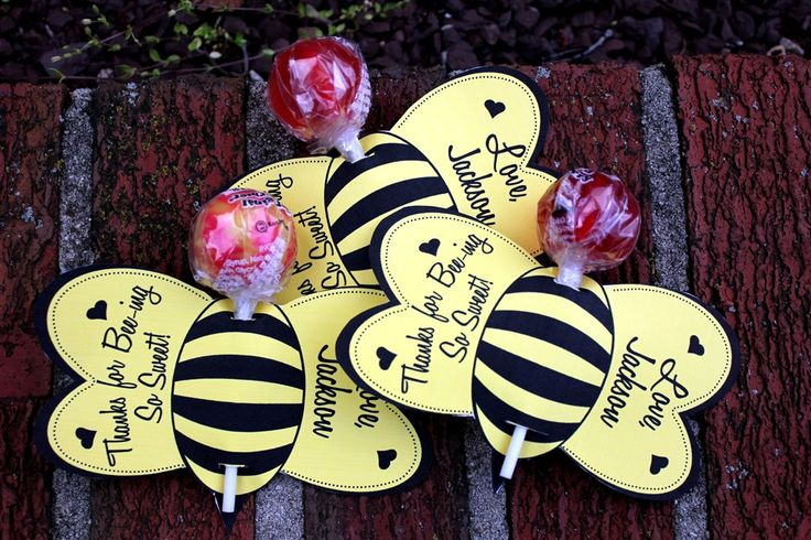 "Personalized Bumble Bee Lollipop Party Favors- Printable. $8.00, via Etsy. Or it can say just ""bee""cause!"