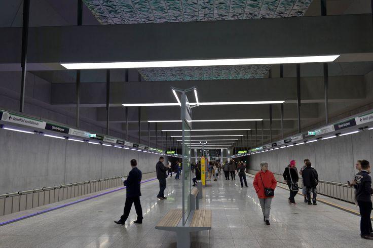 Újbuda központ station, Metro 4, Budapest  http://www.budapestwithus.hu/a-fuzold-a-negyes-metro/