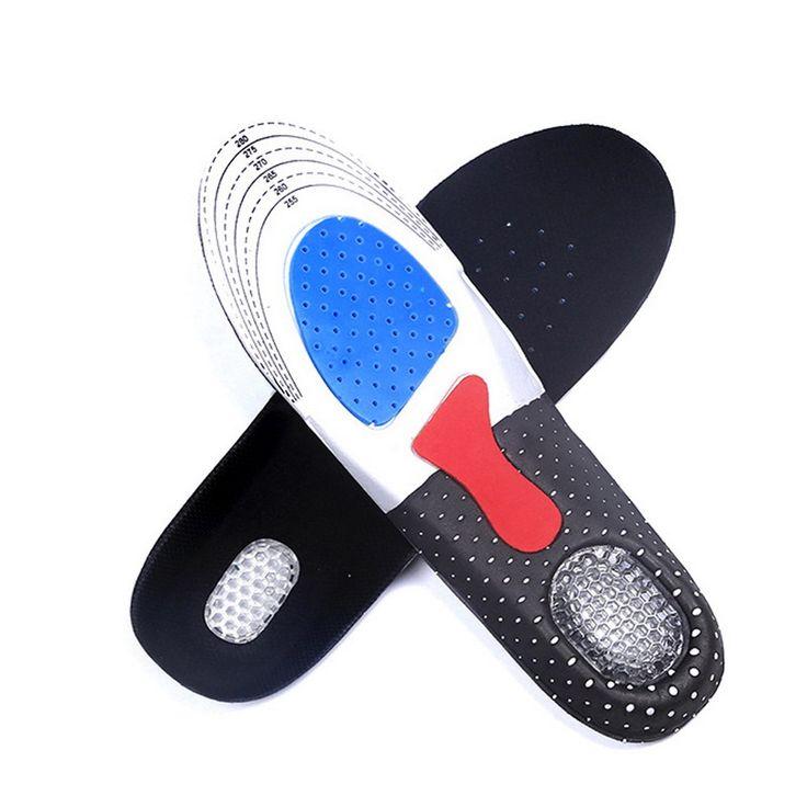 1 Pair Men Gel Orthotic Arch Support Sport Shoe Pad Running Gel Insoles Insert Cushion Shoe Pad L for Men  GUB#