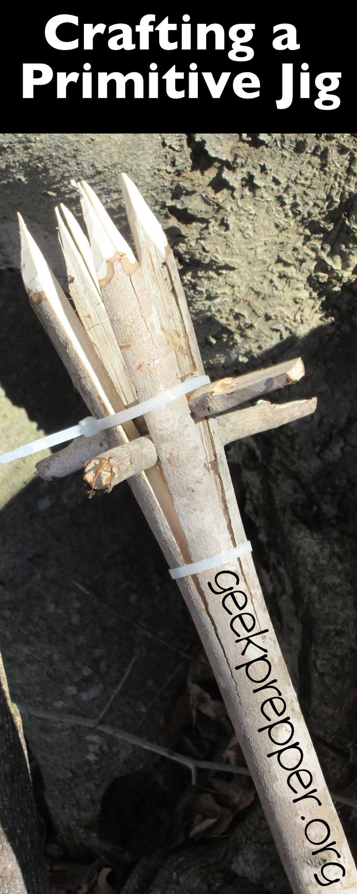Making a Primitive Gig is a simple process that all should know. A Primitive Gig will allow you to spear small game both in water and on dry land. geekprepper.org