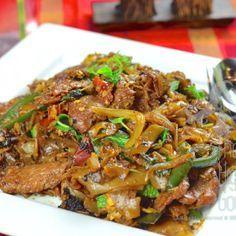 Spicy Thai Stir-Fried Drunken Noodles : Pad Kee Mao  